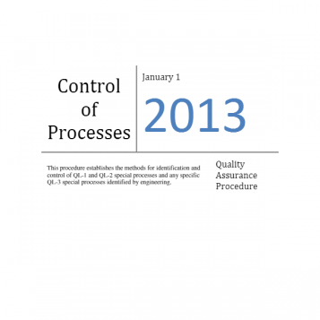 Control of Processes