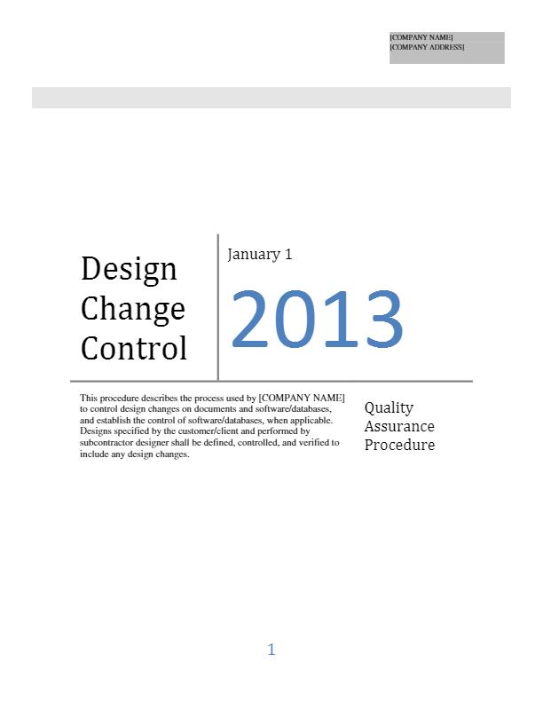 Design Change Control