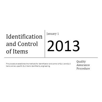 Identification and Control of Items