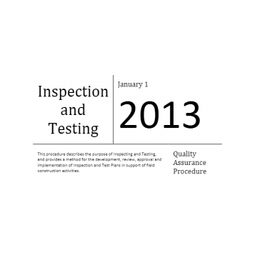 Inspection and Testing
