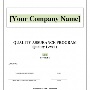 Quality Assurance Program Manual