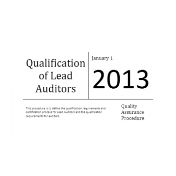 Qualification of Lead Auditors