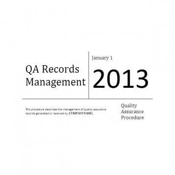 Quality Assurance Records Management