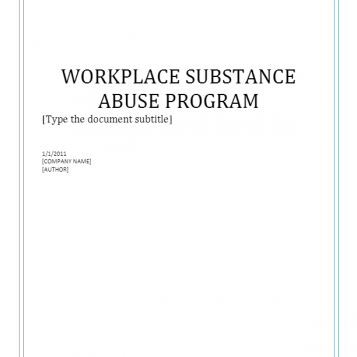 Workplace Substance Abuse Program